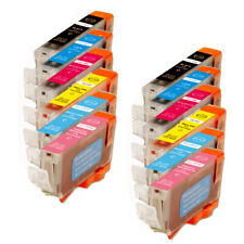 12 New Ink Set w/ smart chip for CLI-8 PC PM Photo iP6600D iP6700D