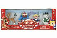 RUDOLPH THE RED NOSED REINDEER 4 Piece Figure Boxed Set Yukon Sam Hermey - NIB