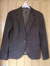 Zara Basic Brown Jacket Size Large (Ref P) Ex Con