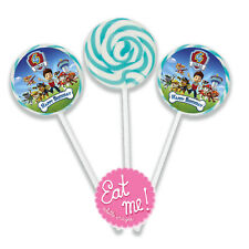 Paw Patrol Personalised Lollipops 4.5cm with 4cm sticker