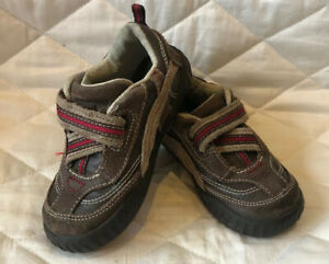 Stride Rite SRT TRENT boys 7M Leather Brown And Red