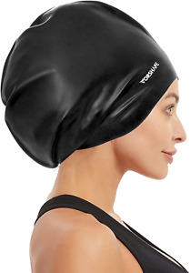 Extra Large Swim Cap for Braids and Dreadlocks Curly Hair Shower Swimming Cap