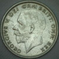 1931 Great Britain Silver Half Crown Coin KM #835 XF Extra Fine UK 1/2 Crown