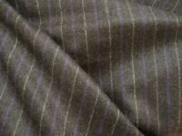 "4.33 yd English Luxury Wool Cashmere Flannel Fabric 9 oz Suiting Char 156"" BTP"