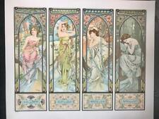 Mucha Foundation Times  of Day 1899 Fine Art Lithograph ME 34/35 S2 Art