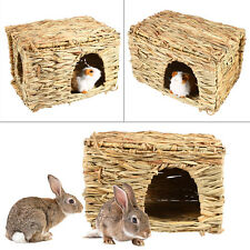 Animal Hand-woven Rabbit Grass Cage Hamster Playing Sleeping House Pet Supplies