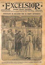 King Ferdinand I of Bulgaria Archduke Friedrich of Austria Headquarter WWI 1916