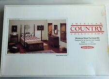 1982 Realife Country Collection Dollhouse Miniature Bedroom Furniture Kit !