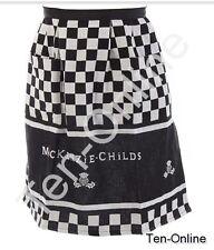 MacKenzie Childs   Black & White Hostess Apron  New