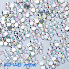 Flat Back Nail Art Rhinestones Glitter Diamond Gems 3D Tips DIY Decoration 1.8mm
