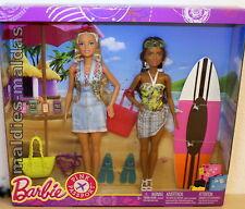 Barbie Pink Passport Geschenkset mit 2 Puppen FNY32 NEU/OVP Puppe Surfen Strand