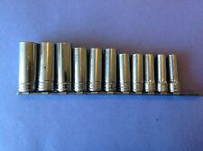 "SNAP-ON TOOLS 3/8"" Dr. METRIC 6 Pt. Deep Sockets 19mm-9mm  Ready For Work!"