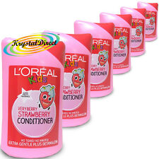 6x L'Oreal Loreal Kids Very Berry Strawberry Conditioner 250ml
