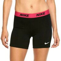 """New Nike Victory Base Layer 5"""" Training Blk/Pink Powerlifting Shorts Womens XS"""