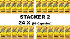Stacker 2 Diet Energy Pill Metabolizing Fat Burner 4 ct (Lot 24 X) =96 Capsules