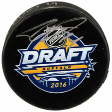 Auston Matthews Toronto Maple Leafs Signed 2016 Official Draft Day Logo Puck
