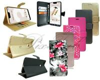 For Google Pixel 3A XL Black Pink Leather Wallet Phone Case Cover + Screen Glass