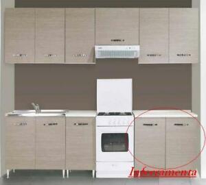 mobile base kit a 2 ante per cucina componibile finiture larice grigio
