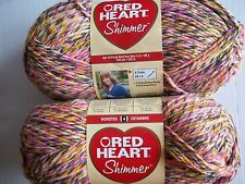 Red Heart Shimmer twist fashion yarn, Kaboodle, lot of 2 (240 yds each)