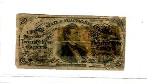 "25 CENT ""FRACTIONAL"" (GREENBACK) 1800'S ""WASHINGTON"" 25 CENT (GREENBACK) ROUGH!!"