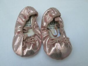 ❤ BABY GAP girls ballet flat shoes pink shimmery NEW 18 24 Months FREESHIP