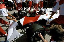 Alain Prost McLaren MP4/3 alemán Grand Prix 1987 fotografía