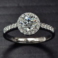 Sparkling 2ct Topaz Diamonique 925 Silver Engagement Wedding Ring Various Sizes