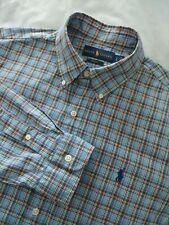Recent Ralph Lauren Slim Fit Long Sleeve Button Down Tattersall Check Shirt Sz L