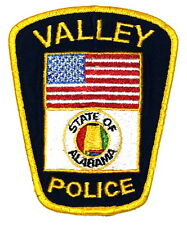 VALLEY ALABAMA AL Police Sheriff Patch STATE SEAL FLAG US FLAG ~
