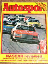 Autosport 21/1/82* MONTE CARLO RALLY - NASCAR REVIEW - RALLYCROSS REVIEW