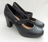 NEW CLARKS BRYNN MARE WOMENS BLACK LEATHER SHOES