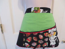 Hand Made Half Apron w 3 Pockets ~ Home ~ Commercial Pastry Chef ~ Cook New
