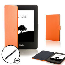 Leder Orange Shell Smart Schutzhülle für Amazon Kindle Paperwhite 2015 + Stift