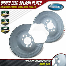 2x Rear Brake Disc Splash Plate for Vauxhall Astra G H Combo C Meriva Zafira A B