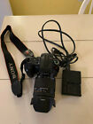 Sony Alpha 300 10.2MP Digital SLR Camera Body 18-250mm lens battery charger