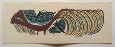 BAYA   - Carton d invitation LITHO Maeght  - 1947