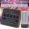 V10 Audio Live Recording KTV Sound Card Device Headset Mixer For Phone  e e`