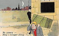 POSTCARD   COMIC   Policeman  Lodger  Moonlight  Flit...
