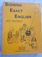 Signing Exact English by Gerilee Gustason FULL SIZE Large print Edition