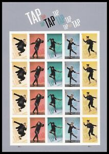 US 5609a-5613a 5613c Tap Dance imperf NDC sheet (20 stamps) MNH 2021