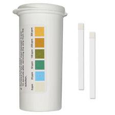 Restaurant Chlorine Sanitizer Plastic Test Strips 0-300 ppm [Vial of 100 Strips]