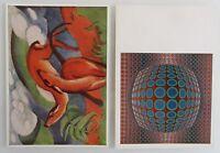 Künstlerkarten Lot 2x Bruckmanns Bildkarte (Nr. 72 und 636) Postkarten ungelauf.