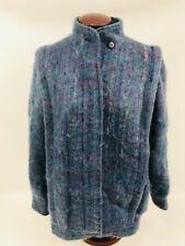e0af15983ba Avoca Collection Irish wool Coat Jacket Blue Purple Womens Size M Hidden  Buttons