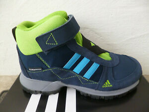 Adidas Trainers Boots Hiking Shoes Waterproof Blue New