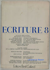 Ecriture n°8 Jacques Mercanton 1972