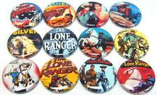 "12 LONE RANGER Buttons Pinbacks 1"" Pins Badges Silver Tonto Retro TV Show Comics"