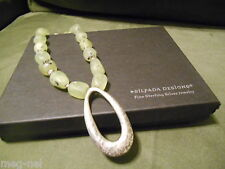 Silpada Jewelry ~ Prehnite & Sterling Silver Pendant Necklace  Retired  # N1806