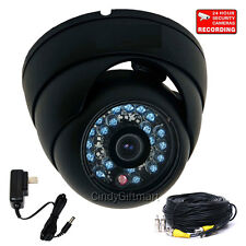 600TVL Wide Angle Dome Security Camera Outdoor Day Night Video with SONY CCD 3a8
