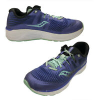 Saucony Ride ISO Kids Sz 1 Sneakers Athletic Shoes Blue Gray Running Hiking