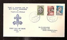 World Jamboree Scout 1937 Netherlands  illustrated Sluis cachet FDC